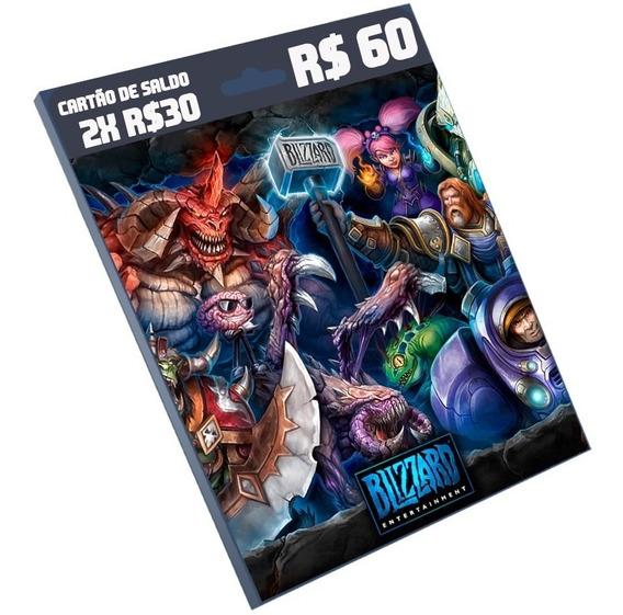 Cartão Blizzard R$ 60 Reais (2x 30) Br Battle.net