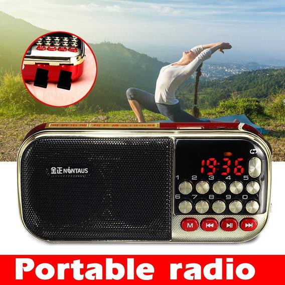 3w 87,5-108mhz Portátil Digital Rádio Música Suporte Fm Mp3