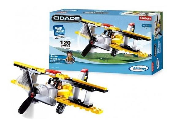 Blocos De Montar Cidade Avião Monomotor - 01487 Xalingo