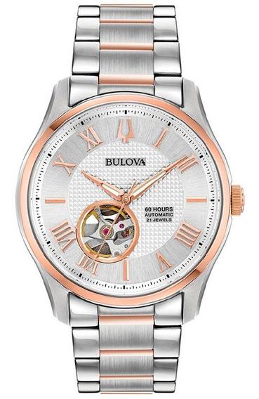 Relógio Bulova Masculino Automático 98a213 *60 Horas De Reserva De Marcha