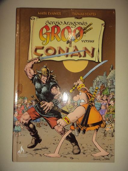 Sergio Aragones Groo Versus Conan Capa Dura Mythos Excelente