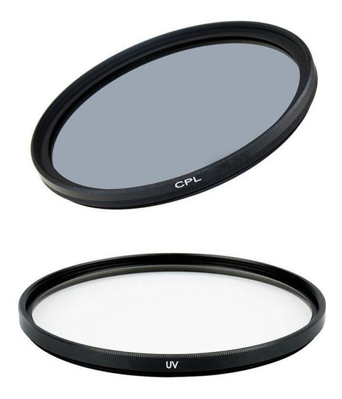 Kit Com Filtro Uv E Filtro Cpl 62mm Para Lentes Fotográficas