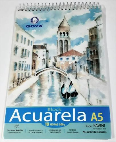 Block Para  Acuarela A5 300grs 10 Hojas