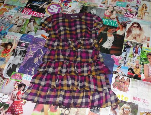 Vestido Cuadrille Purpura Gasa
