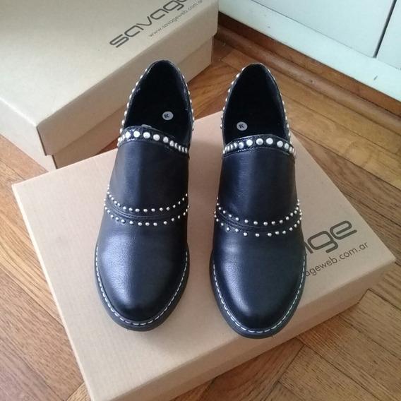 Zapatos Texano Tacha Cerrado Mujer Negro N36 Savage