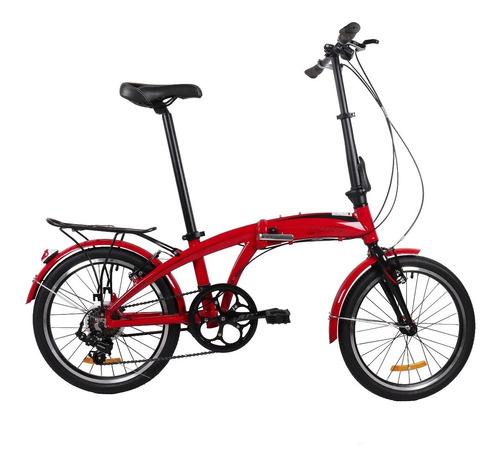 Bicicleta Dtfly U8 Plegable Shimano 7 Velocidades Negro