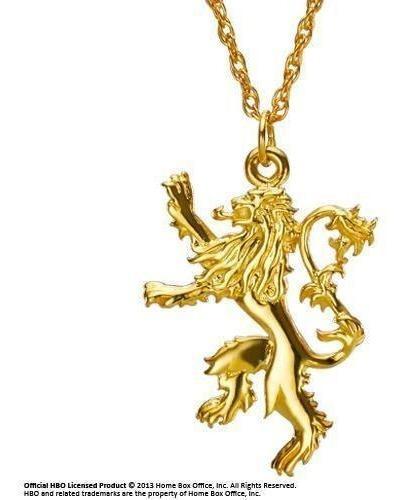 Games Of Thrones Collar Escudo Casa Lannister Doble Vista