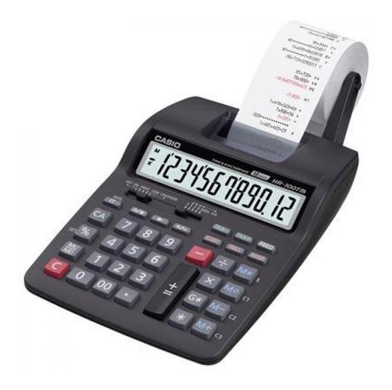 Calculadora Casio Hr-100tm Con Fuente Aliment.