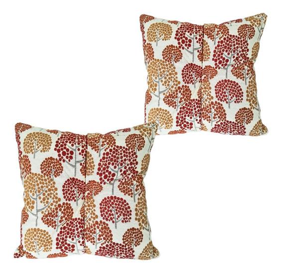 4 Cojines Decorativos Rojo Naranja Mostaza Amarillo Salas