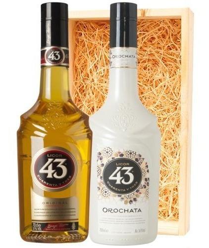 Kit Licor 43 Cuarenta Y Tres E Orochata - Caixa De Madeira