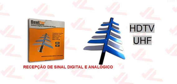 Antena Externa Digital Para Tv Hdtv-1500 2 Em 1