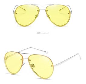 bb923d67af Gafas De Sol Lente Transparente Amarillo Rosa Aviador Uv 400 · 2 colores