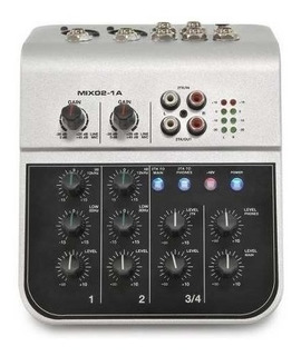 Mini Consola De Audio 2 Canales Soundking