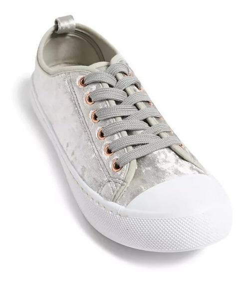 Tenis Sneakers Dama Terciopelo Charles Albert Forever 21 # 6