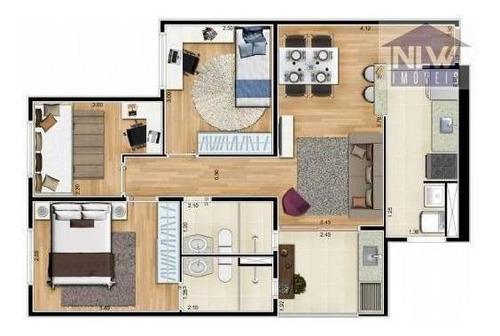 Apartamento Com 3 Dormitórios À Venda, 58 M² Por R$ 473.400,00 - Vila Água Funda - São Paulo/sp - Ap2209