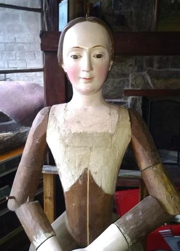 Virgen De Vestir Siglo 19  1.25 Altura