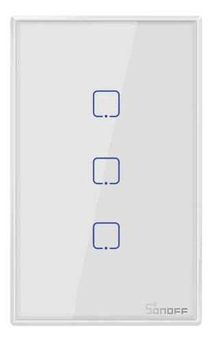 Imagen 1 de 10 de Sonoff T2us3c-tx 3 Gang Smart Wifi Interruptor De Luz De Par
