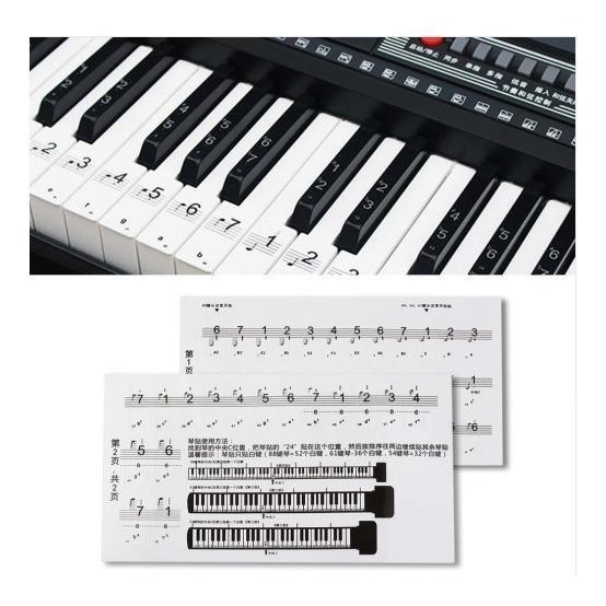 Nota Etiqueta Numerada Para Teclado De Piano 88 Clave