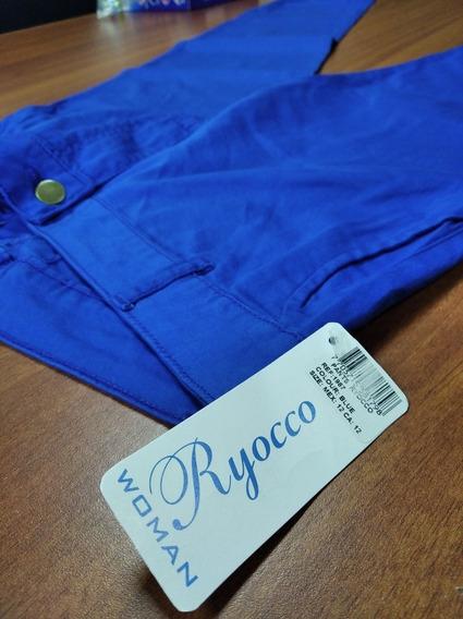 Pantalón De Vestir Para Dama Azul Rey - Marca Ryocco