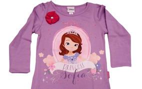 3 Playeras Infantil Princesita Sofia Originales Marca Disney