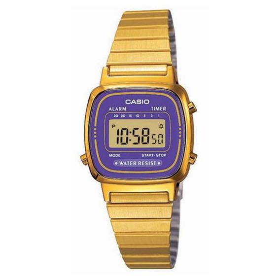 Relógio Feminino Digital Casio La670wga-6df - Dourado
