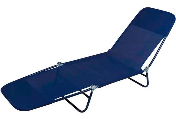 Cadeira Espreguiçadeira Textilene Azul Marinho Mor