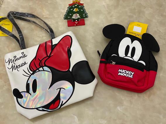 Cartera Y Morral Mickey E Minnie Disney
