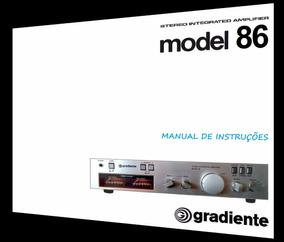 Manual Do Amplificador Gradiente Model 86 (cópia Colorida)