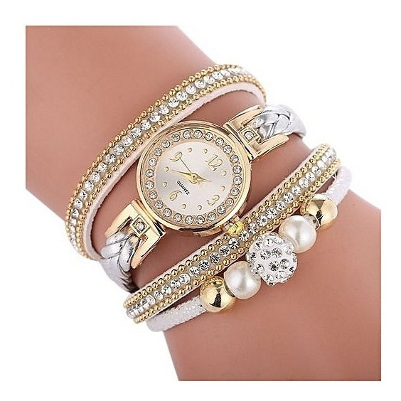 Relógio Feminino Com Pulseira E Pingente Luxo