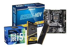 Kit Upgrade I5 7400, Placa B250m-hdv, 8gb Ddr4 Lpx + Nfe
