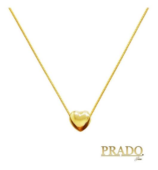 Gargantilha Com Pingente Coração Em Ouro 18k