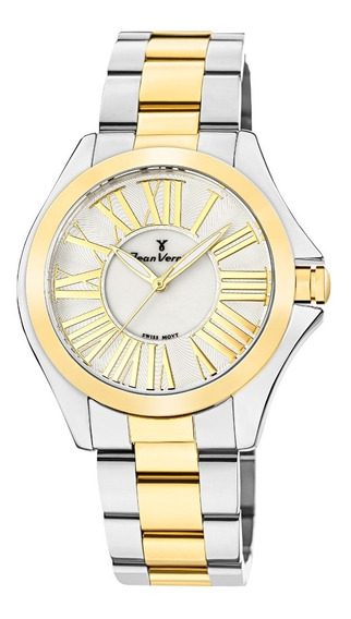 Relógio Analogo Jean Vernier Jv1123 Dourado