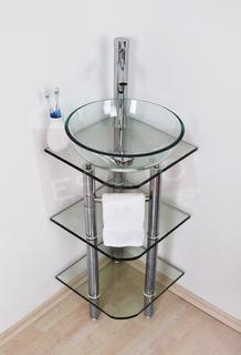 Esatto® Mueble Baño Pequeño Esquinero Cristal Vidrio Cordoba