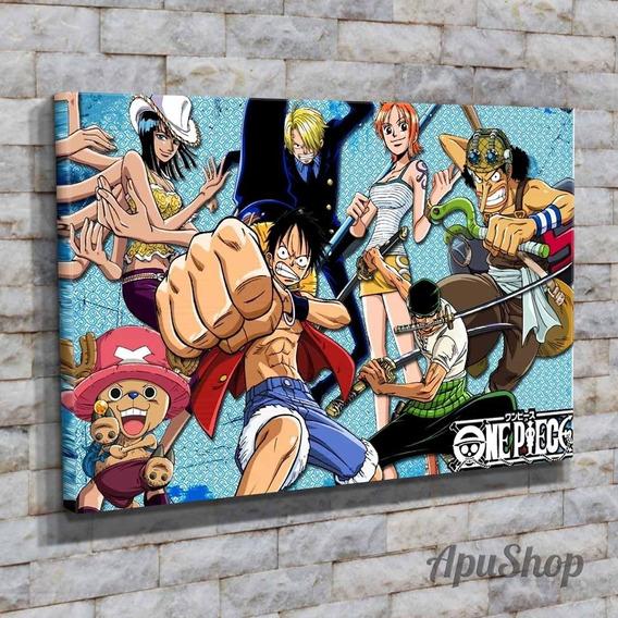 Cuadros Lienzo 60x40 One Piece Animé Manga Dibujos Y Más
