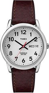 Reloj Timex Easy Reader Daydate Correa De Cuero