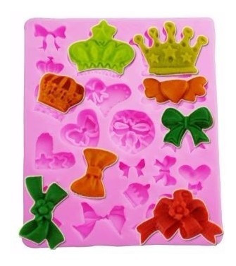 Molde Princesa Coroa Rainha Forma De Silicone Biscuit Pasta
