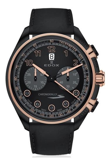 Reloj Edox Chronorally Ed8430137nrcn Ghiberti