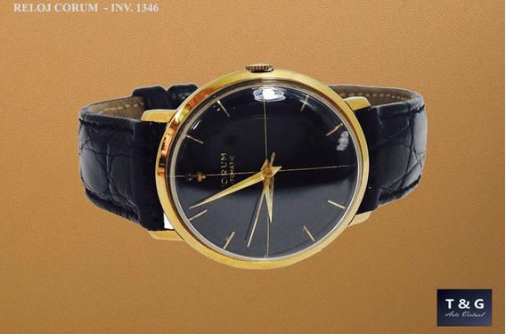 Reloj Automático Marca Corum, Oro Sólido De 18k (ref 1346)