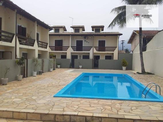 Casa Com 2 Dormitórios Para Alugar, 103 M² Por R$ 1.800/mês - Prainha - Caraguatatuba/sp - Ca0448
