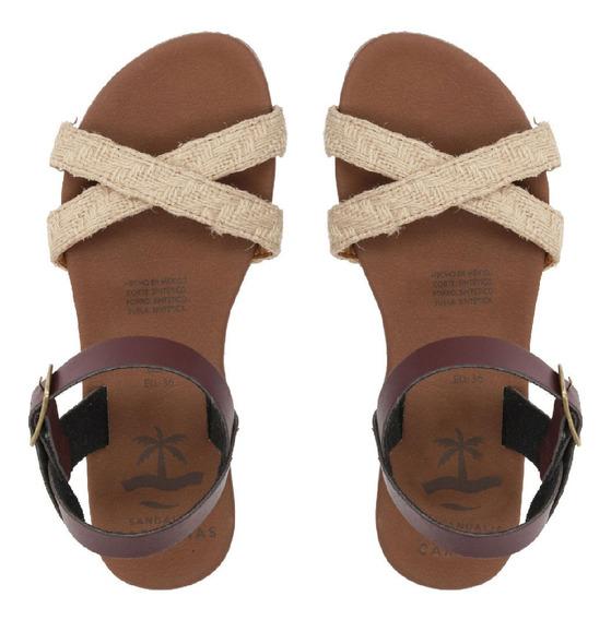 Sandalias Caribeñas Moda Playa Dama Chemuyil Artesanal Fab