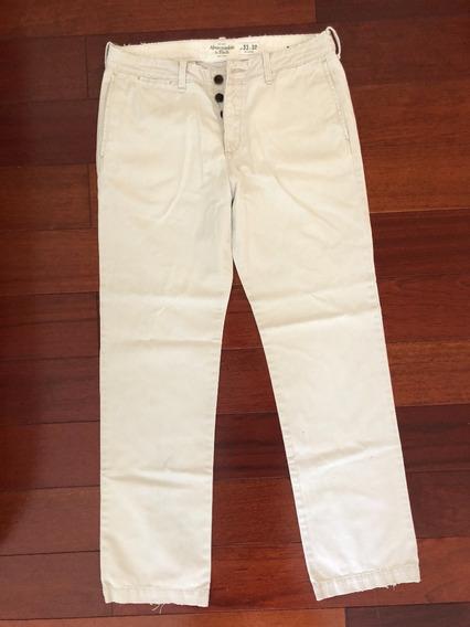 Pantalón Abercrombie & Fitch (beige) - Talla W33 L32