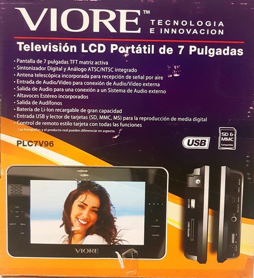 Mini Tv Portatil 7 Pulgadas Viore Plc7v96 Recargable Nuevo