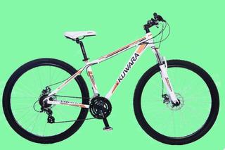 Bicicleta Mtb Kuwara R29 Neg Aluminio 21 Vel Shimano Suspens