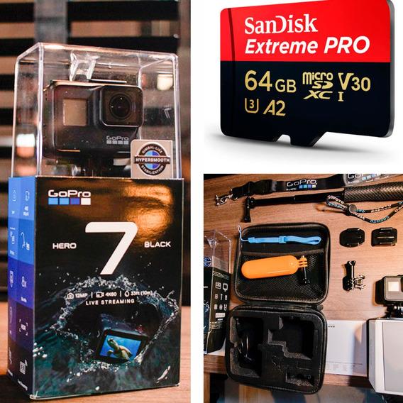 Gopro Hero 7 Black 4k60 + Cartão 64gb + Acessórios