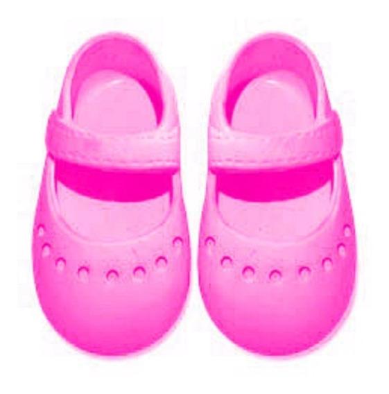 Sapatinho Sapatilha 7cm Para Boneca - Laço De Fita - Pink