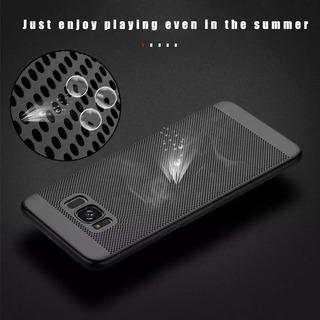 Capa Ultrafina Slim Preta Para Galaxy S8 S9 M20