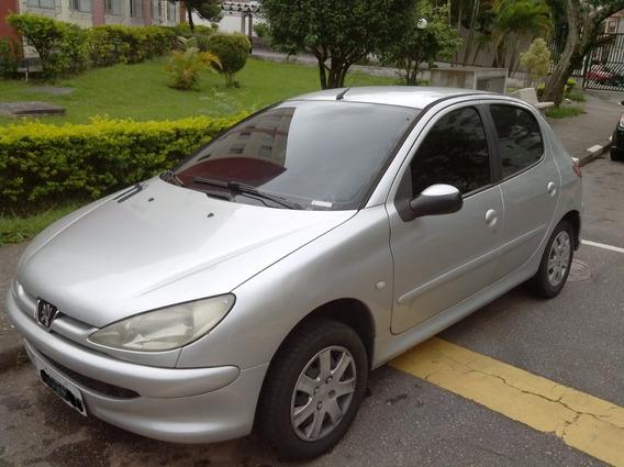 Peugeot 206 - Presence / 1.4 Flex / Prata / Completo