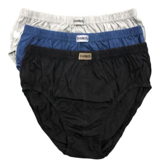 Kit Cuecas Slip Plus Size Algodão Tradicional Qualidade C/3