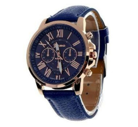 Relógio Geneva Pronta Entrega Kit De 11 Couro Sint