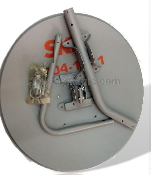 1 Antena Ku 60 Cm+1 Lnb Duplo+1 Kit Cabo